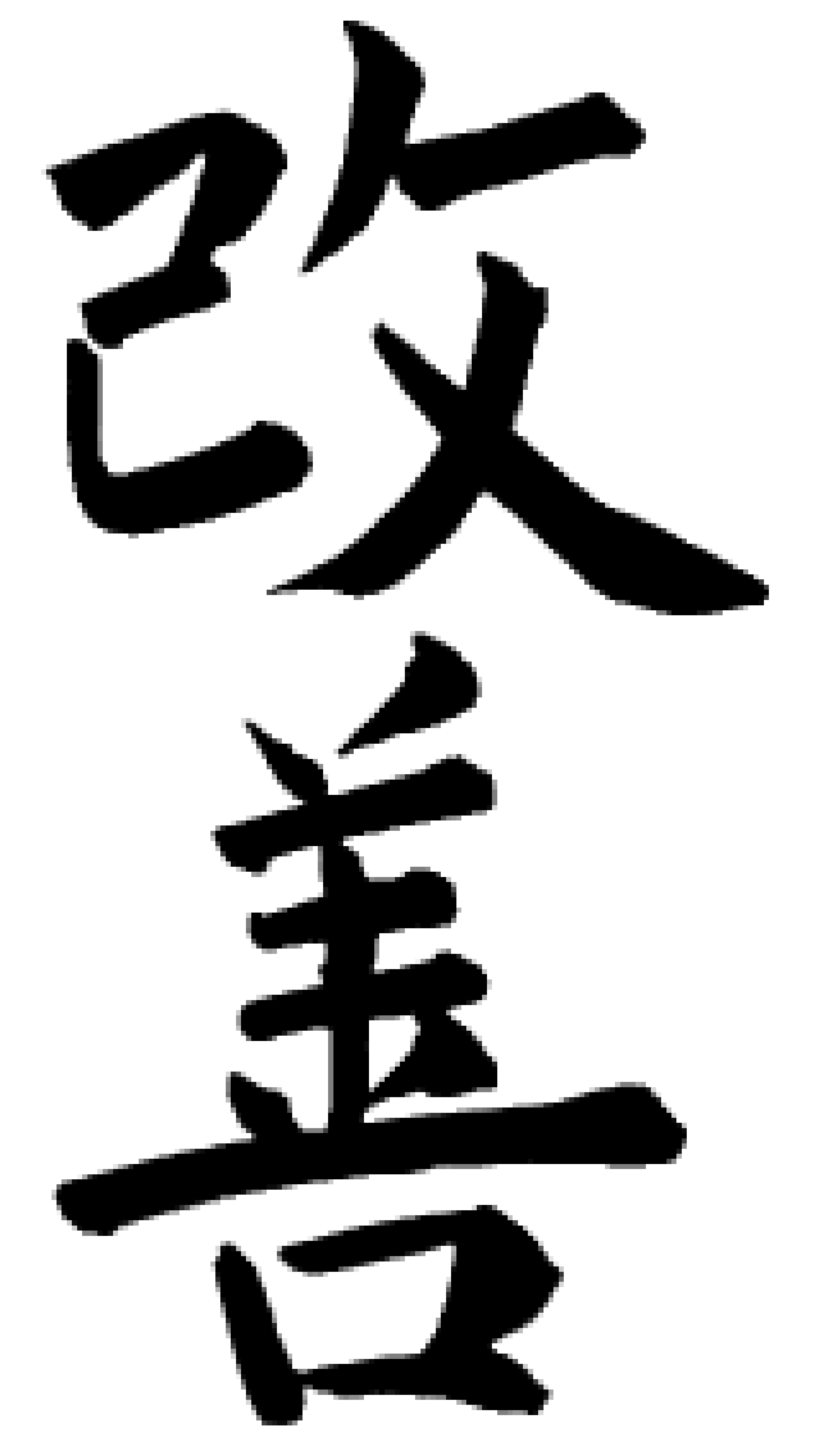 Kaizen in Japanese characters